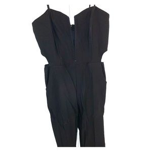 NastyGal Black Cut Out Jumpsuit